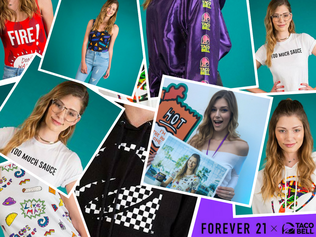 St. Louis model Brittany Creech was recently in Los Angeles to help launch the Forever 21 x Taco Bell clothing line.