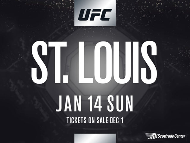 The Ultimate Fighting Championship (UFC) will host its first mixed martial arts fights in St. Louis, Missouri on January 14, 2018.