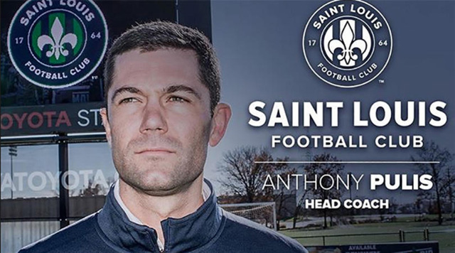 Anthony Pulis is the new head coach of Saint Louis FC. STLFC is the St. Louis entry in the United Soccer League. Pulis is the son of former West Brom coach Tony Pulis.