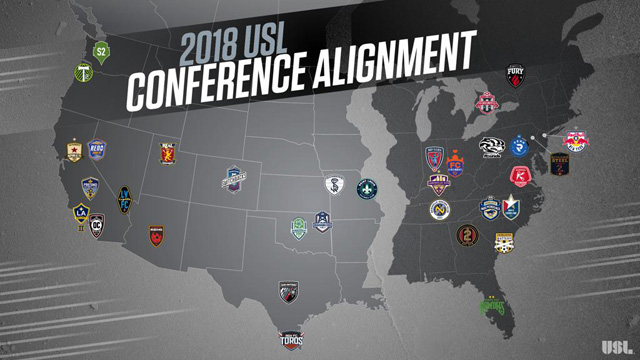 The United Soccer League (USL) announced the conference alignment for the 2018 season today. Saint Louis FC will play in the USL West in 2018.