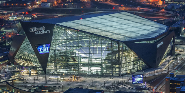 U.S. Bank Stadium in Minneapolis, Minnesota is the home of Super Bowl LII on February 4, 2018.