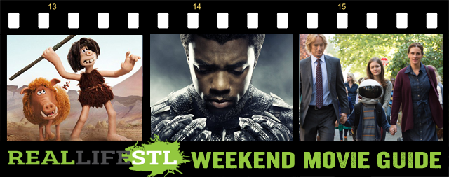 Black Panther and Early Man are in movie theaters this weekend while Wonder is now available to rent at Redbox. It's the Weekend Movie Guide from RealLifeSTL.