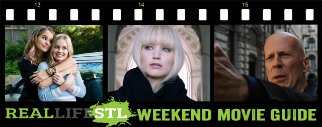 Red Sparrow, Every Day and Death Wish highlight the Weekend Movie Guide from RealLifeSTL.
