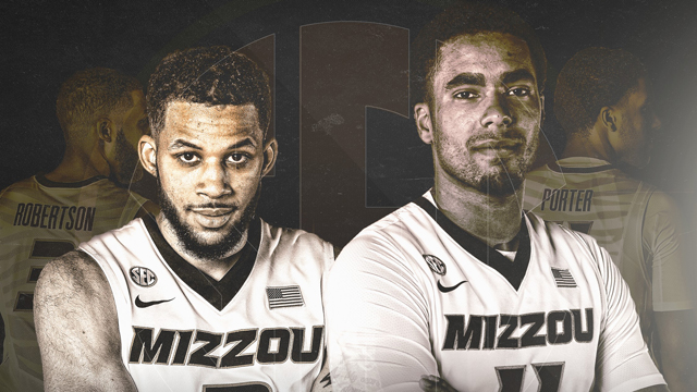 Kassius Robertson and Jontay Porter earned All-SEC honors for the Missouri Tigers this season. (Photo: Mizzou Athletics)