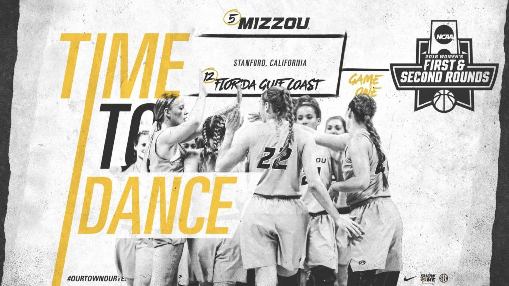The Mizzou women's basketball team will take on Florida Gulf Coast on Saturday afternoon in the first round of the NCAA Tournament. (Image/Mizzou Athletics)