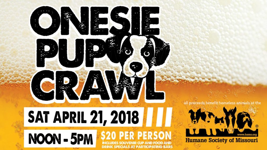The Humane Society of Missouri's Onesie Pup Crawl is just one of the cool events happening around St. Louis this weekend. Check out the STL Weekend Events Guide for April 19-22, 2018.